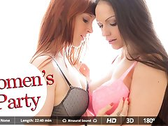Irina Vega  Marta La Croft in Women's Party - VirtualRealPorn