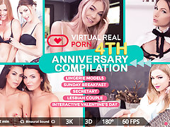 Chrissy Fox  George Lee  Heather Vahn in VirtualRealPorn 4th Anniversary compilation - VirtualRealPorn