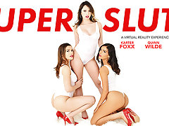 SUPER SLUTS featuring Emily Willis, Karter Foxx, and Quinn Wilde