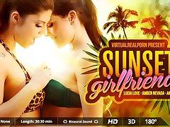 Amber Nevada  Andy Stone  Lucia Love in Sunset Girlfriends - VirtualRealPorn
