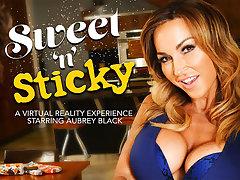Sweet n Sticky featuring Aubrey Black - NaughtyAmericaVR