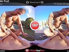 Gala Brown  Rob Diesel in Countryside Pool - VirtualRealPorn