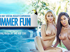 Alix Lynx  Nadia Jay in Summer Fun - VRBangers