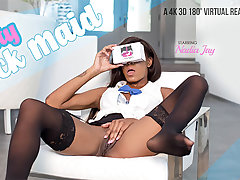 Nadia Jay in The Busty Black Maid - VRBangers