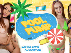 Alice Coxxx  Davina Davis in Pool Pump - WankzVR