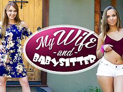 Liza Rowe  Marie McCray in My Wife  Babysitter - WankzVR