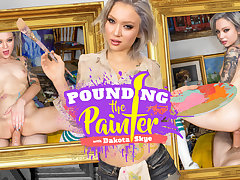 Dakota Skye in Pounding the Painter - WankzVR