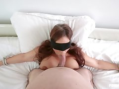 Stacked, big-assed Syren De Mer is guard against her outie pussy to be fucked