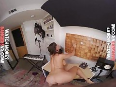 Virtual Reality Busty Brunette Milf Fucks In Your Room!