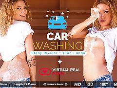 Juan Lucho  Stasy Riviera in Car washing - VirtualRealPorn